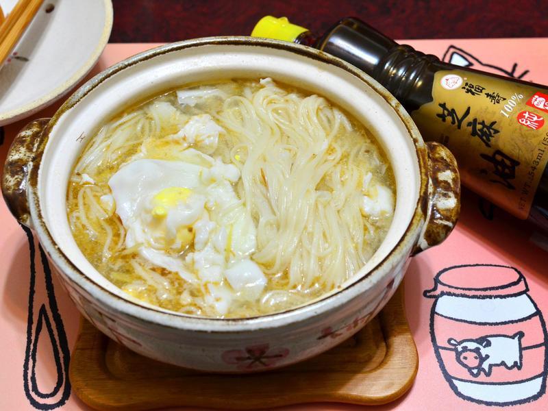 麻油雞蛋麵線【福壽純芝麻油玩料理】