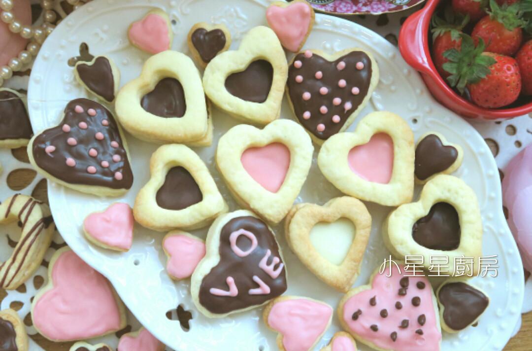 彩繪鏤空愛心巧克力餅乾
