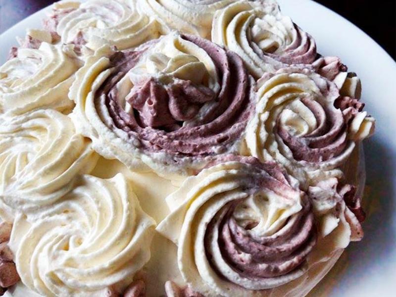 雙色奶油花檸檬蛋糕(快速蛋糕胚)