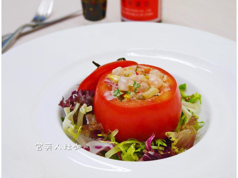【蕃茄鮮蝦盅沙拉】