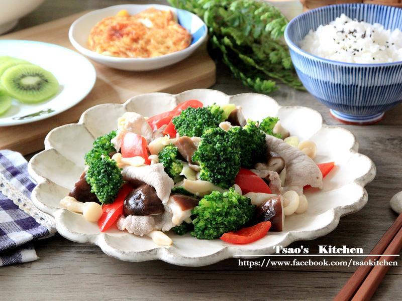 汆燙鮮蔬肉片