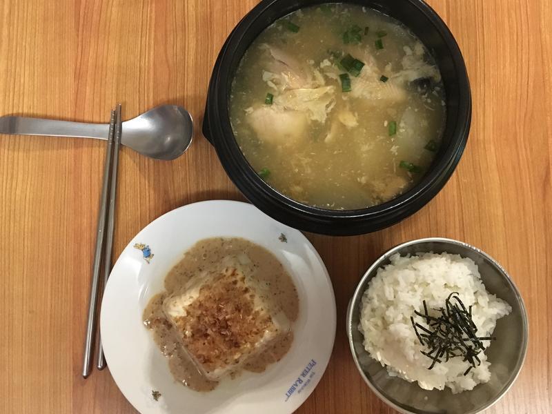便利人參雞湯+暖豆腐