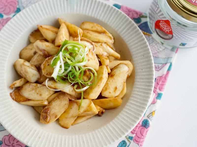 椰子油蝦醬茭白筍~簡單、有滋味