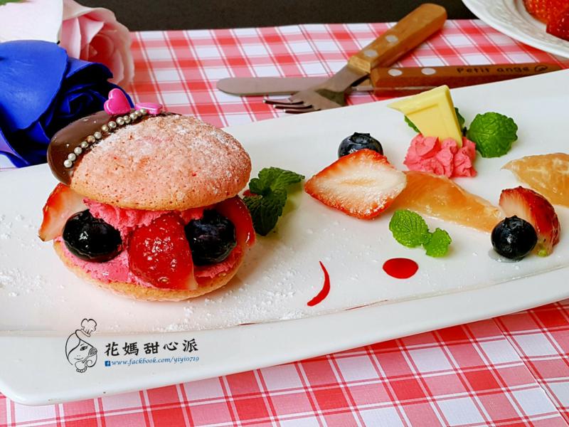 濃情蜜意草莓夾心台式馬卡龍