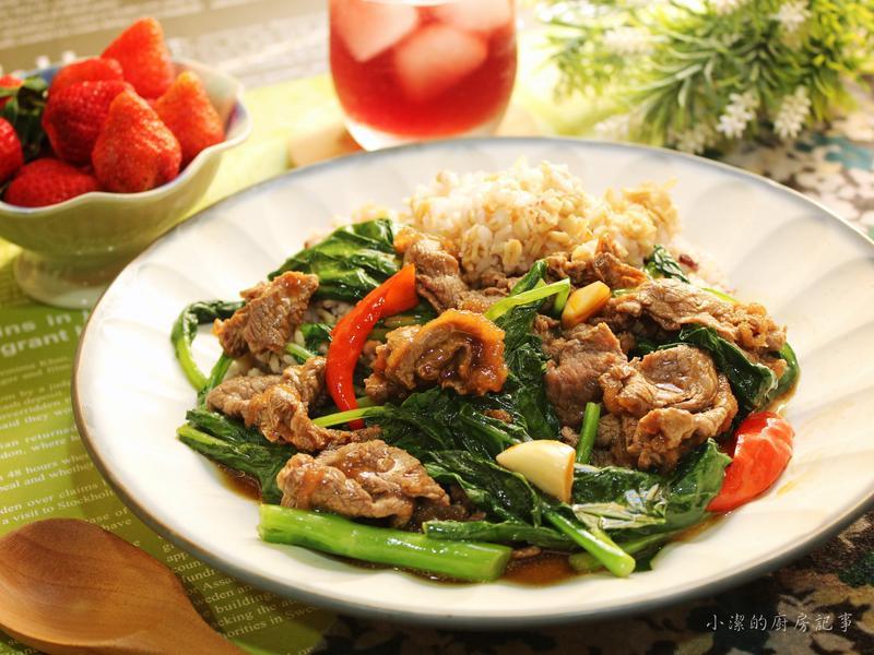 蠔油芥蘭牛肉燴飯