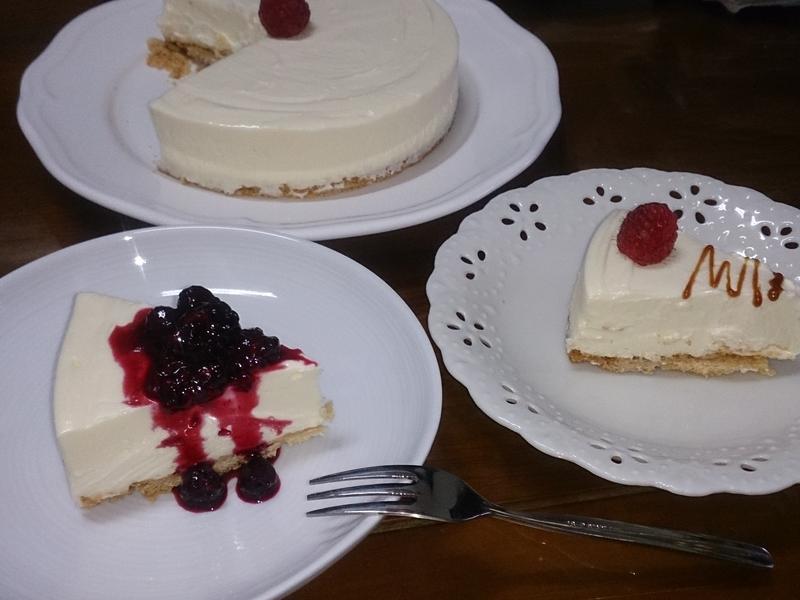 免烤白巧克力起司蛋糕