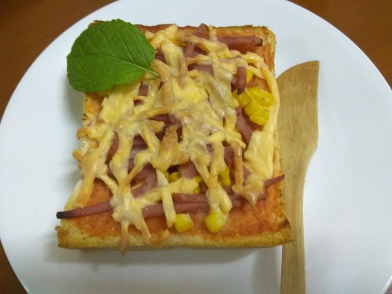 十分鐘早餐─玉米火腿比薩土司