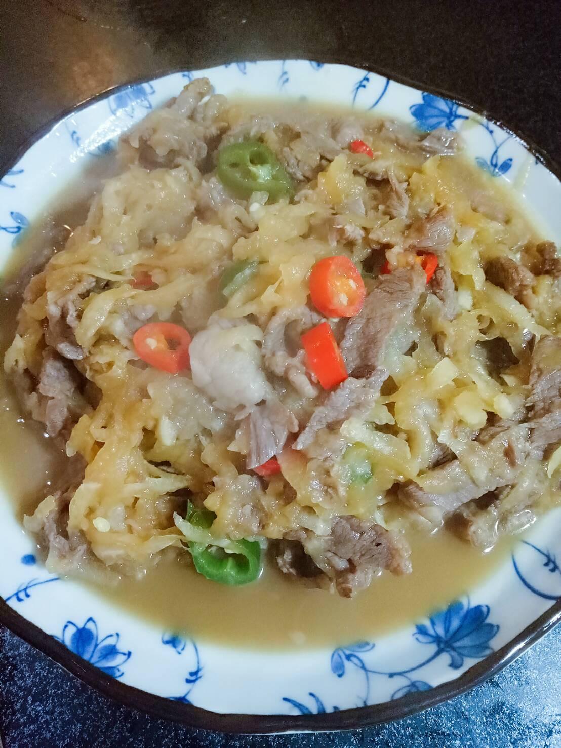 蘿蔔絲炒牛肉
