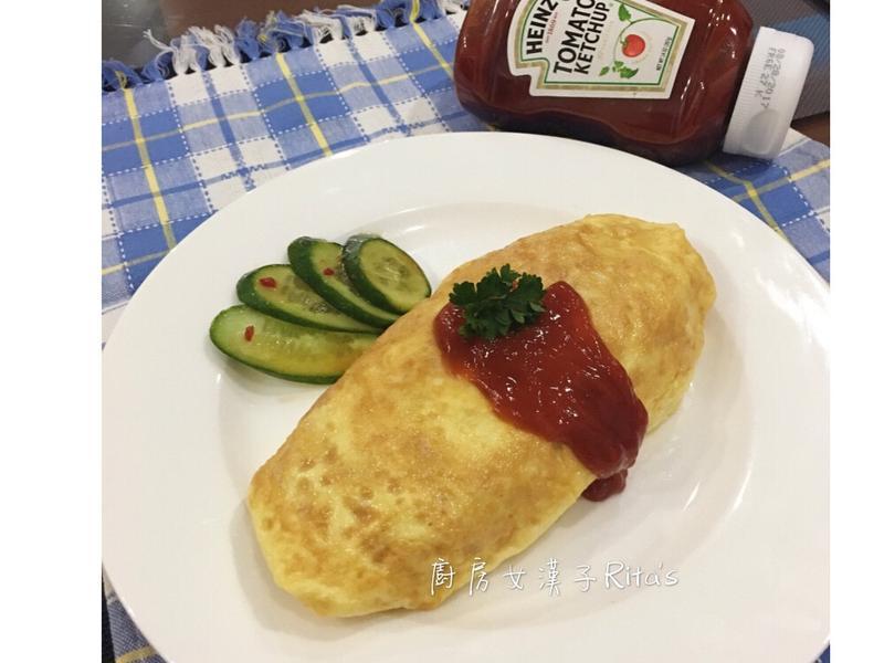 蛋包蕃茄炒飯