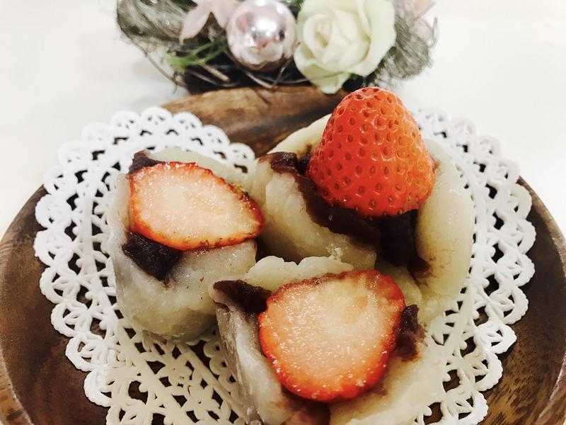 簡易草莓大福
