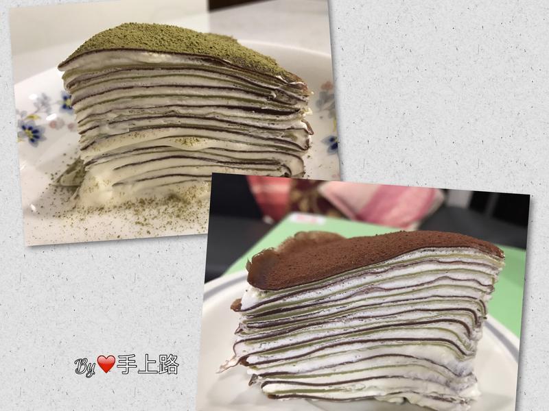 🍵抹茶可可雙重奏千層蛋糕🍫(免烤箱)