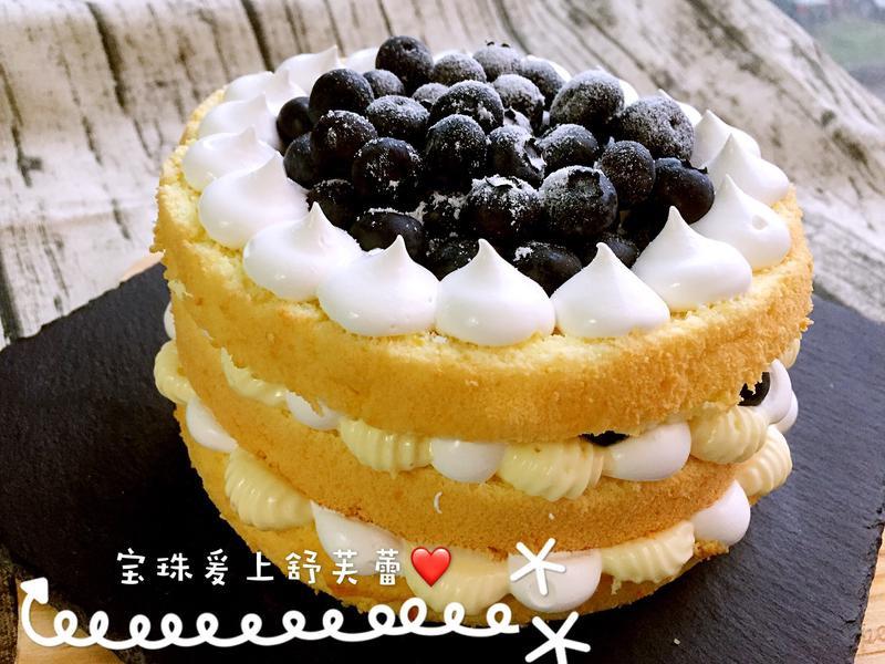 藍莓裸蛋糕