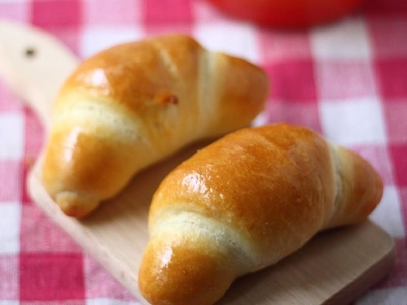不輕易失敗的麵包麵團---蝦蛦蔥火腿可頌捲