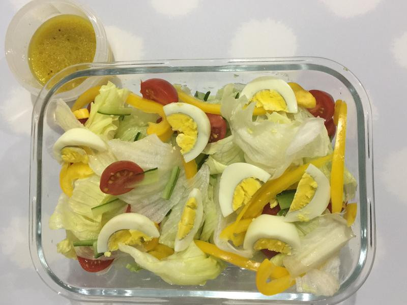 低卡瘦身餐@《雞蛋萵苣沙拉》