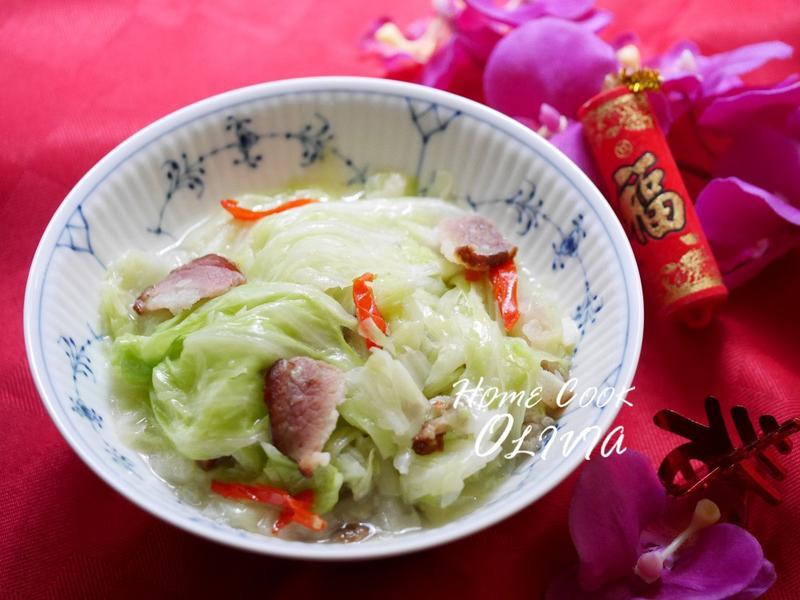 小廚娘❤臘肉炒高麗菜#美善品
