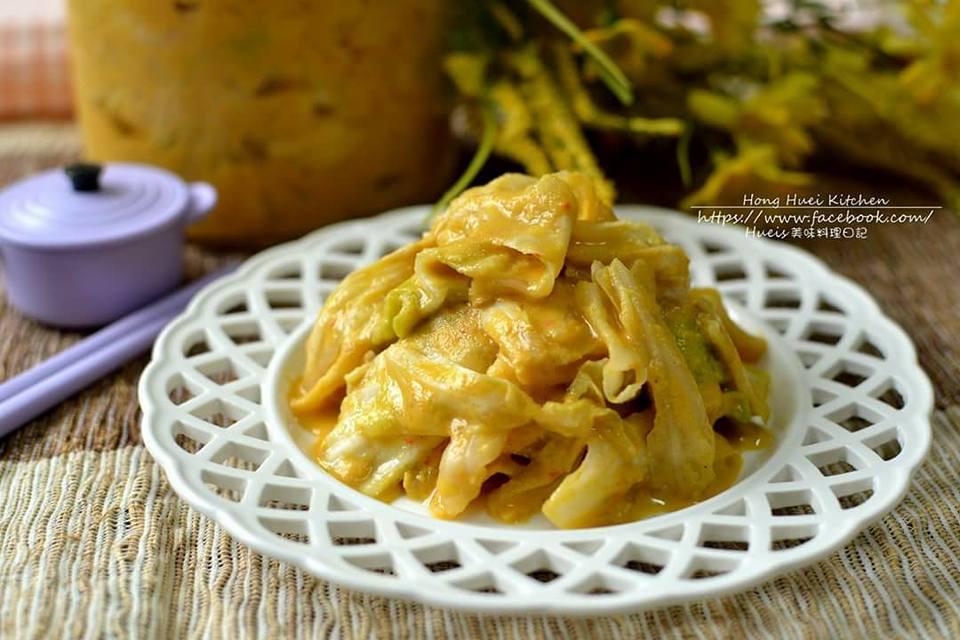 自製黃金泡菜(高麗菜)