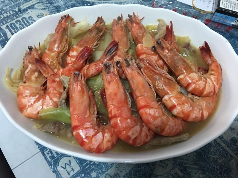 簡單年菜-麻油松阪豬豬蝦