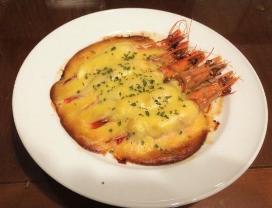 果醬料理-鱸魚鑲草蝦佐鳳梨荷蘭醬