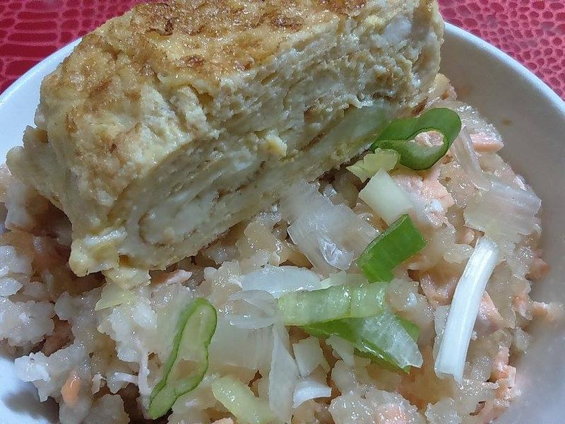 【電鍋版】-日式鮭魚飯