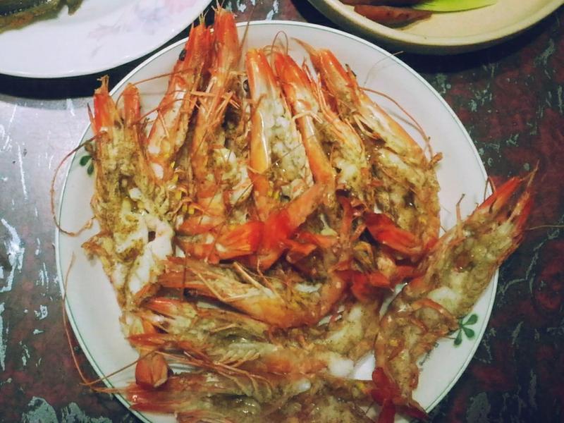 平底鍋烤鮮蝦 簡單做