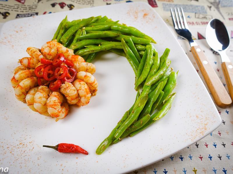 鮮蝦四季豆@Selina Wu