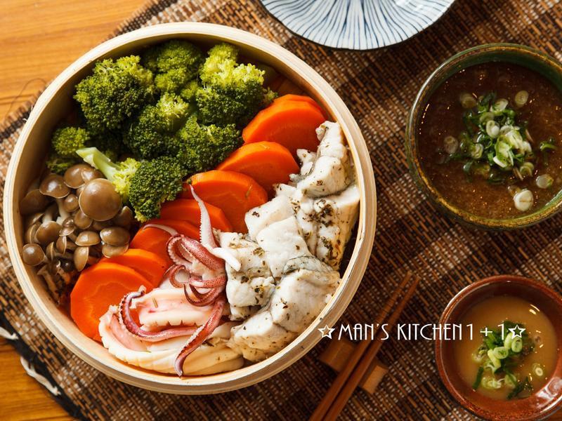 (低卡) 海鮮蒸菜