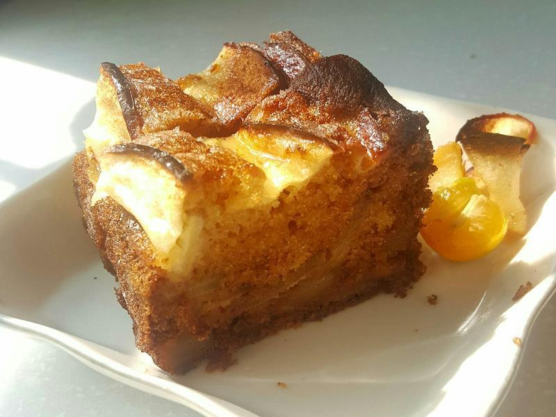焦糖蘋果金桔檸檬磅蛋糕