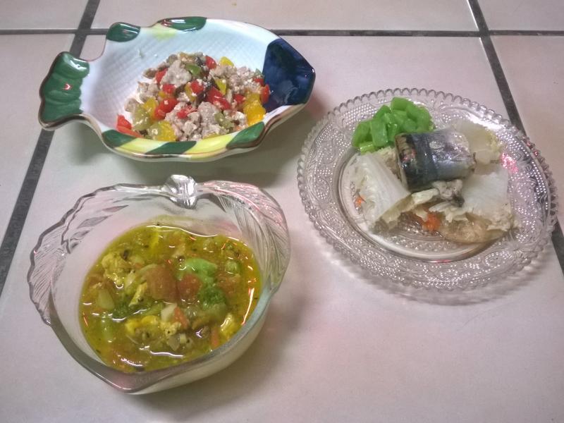 鮮食🐾彩椒炒肉 南瓜濃湯 烤魚