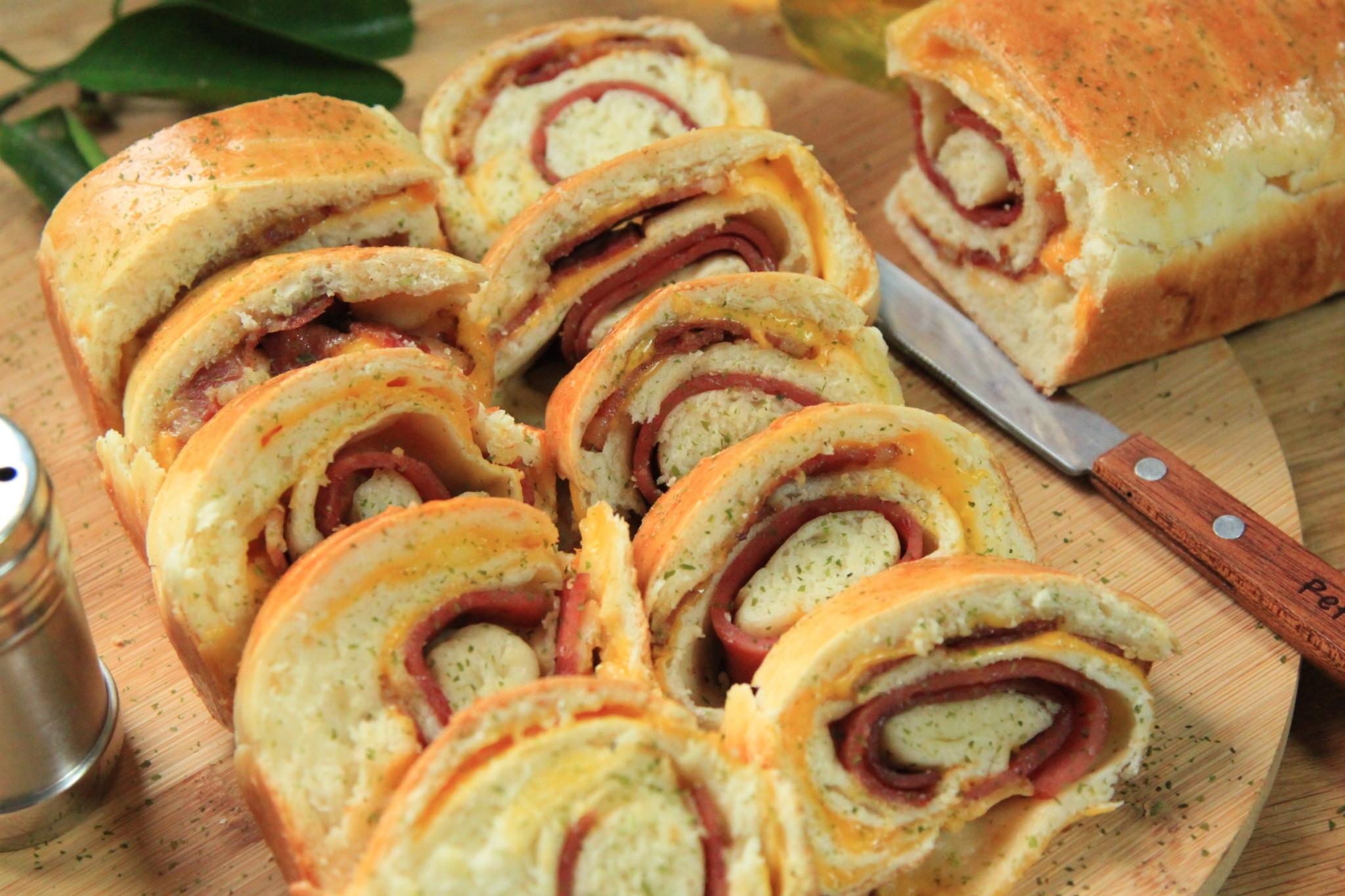 火腿培根起士麵包