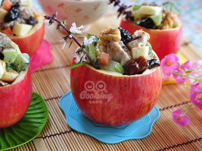 雞丁果香沙拉蘋安盅