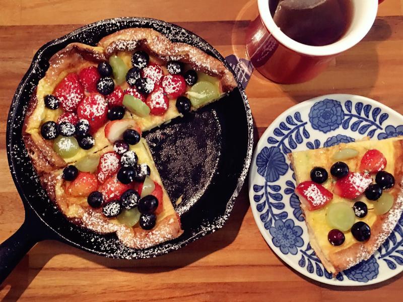 莓果鑄鐵鍋鬆餅