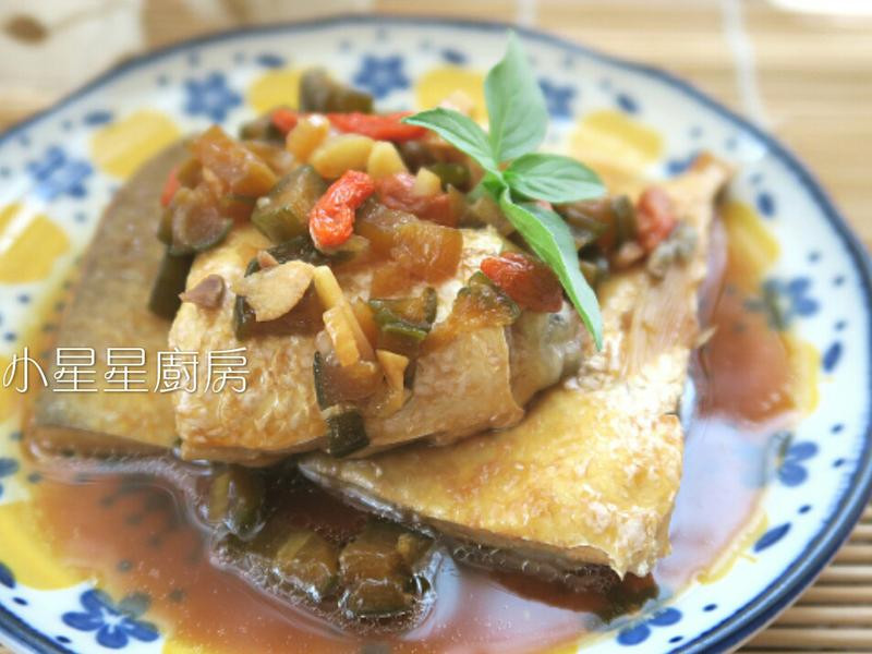 醬煮脆瓜虱目魚