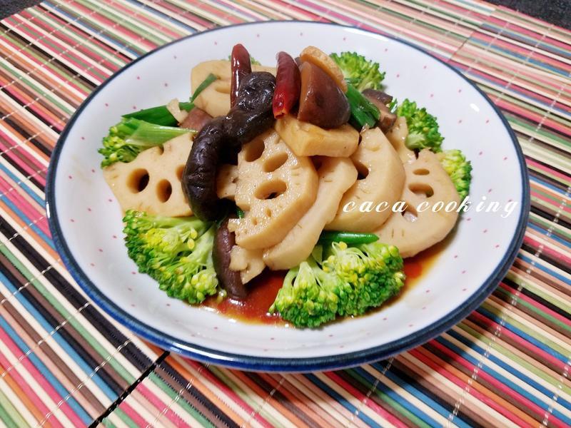 香菇炒蓮藕片
