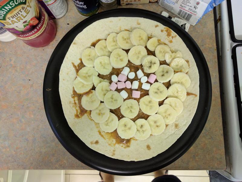 香蕉太妃派比薩