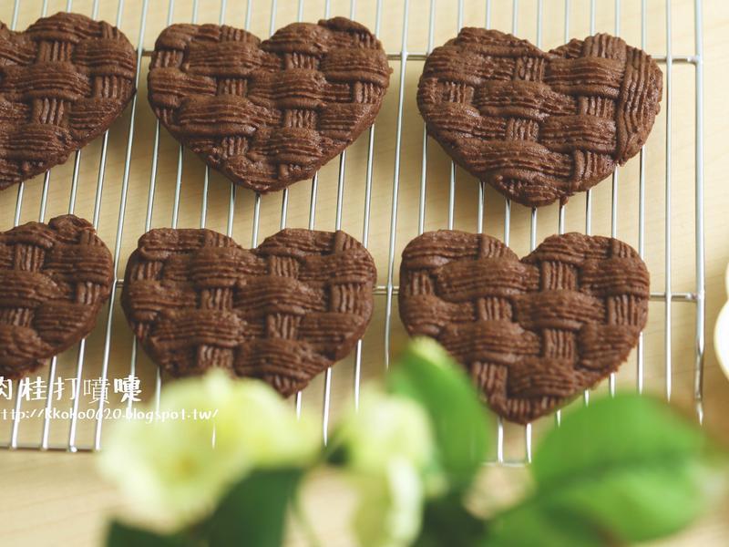 巧克力心形編織餅乾〈情人節食譜〉