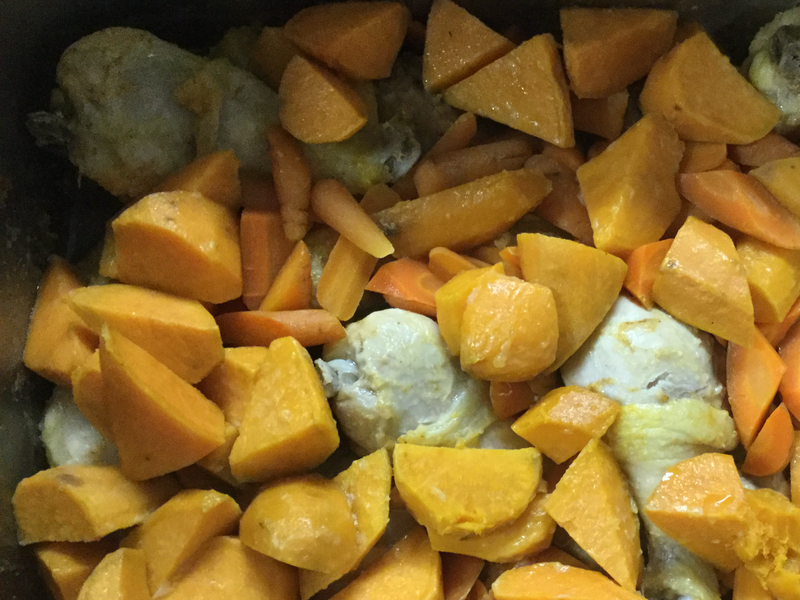 葷菜-甜地瓜烤雞腿