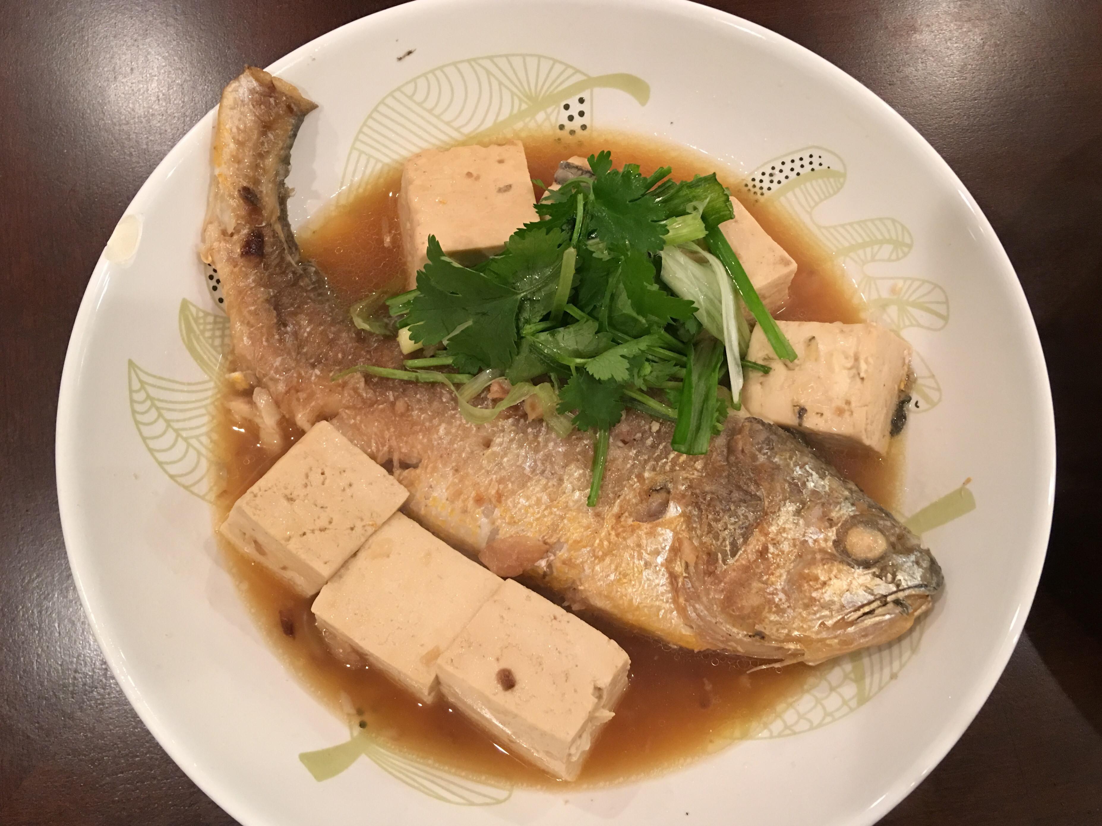 紅燒黃魚豆腐