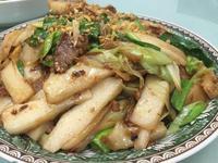 蒜苗醬肉炒年糕
