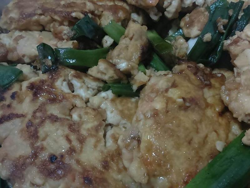 【心料理】蔥燒豆腐煎餅