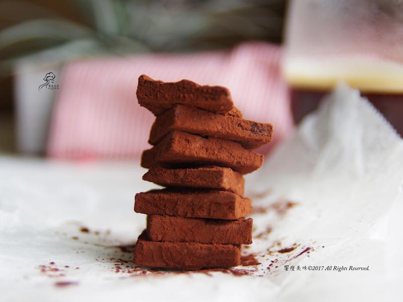 饗瘦美味-情人節低脂優格生巧克力