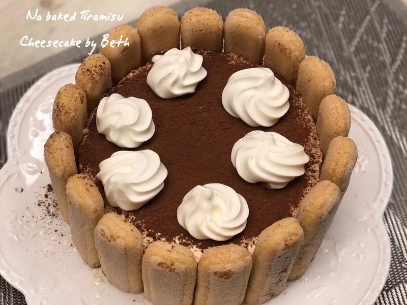 提拉米蘇起司蛋糕- 免烤無蛋- 情人節