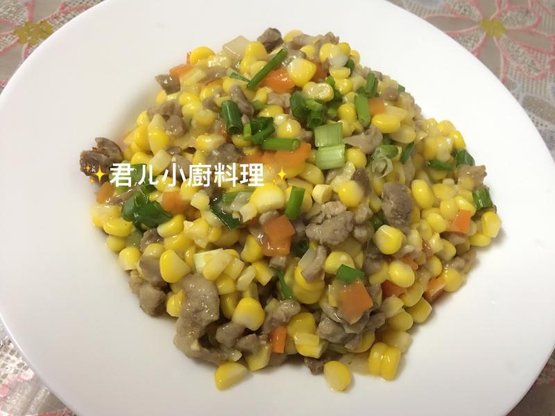 玉米粒炒豬肉末