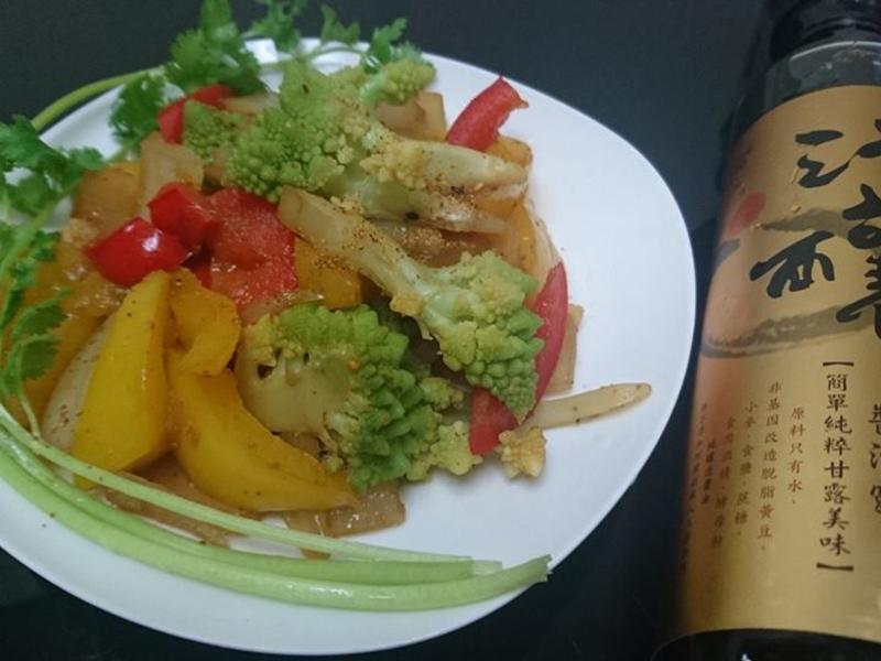 七味醬油炒蔬菜-淬釀手路菜