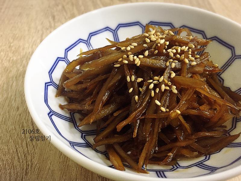 韓國常備菜-煮牛蒡-우엉조림
