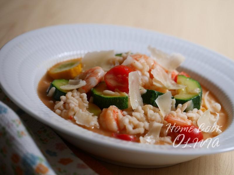 小廚娘❤番茄鮮蝦櫛瓜燉飯#美善品