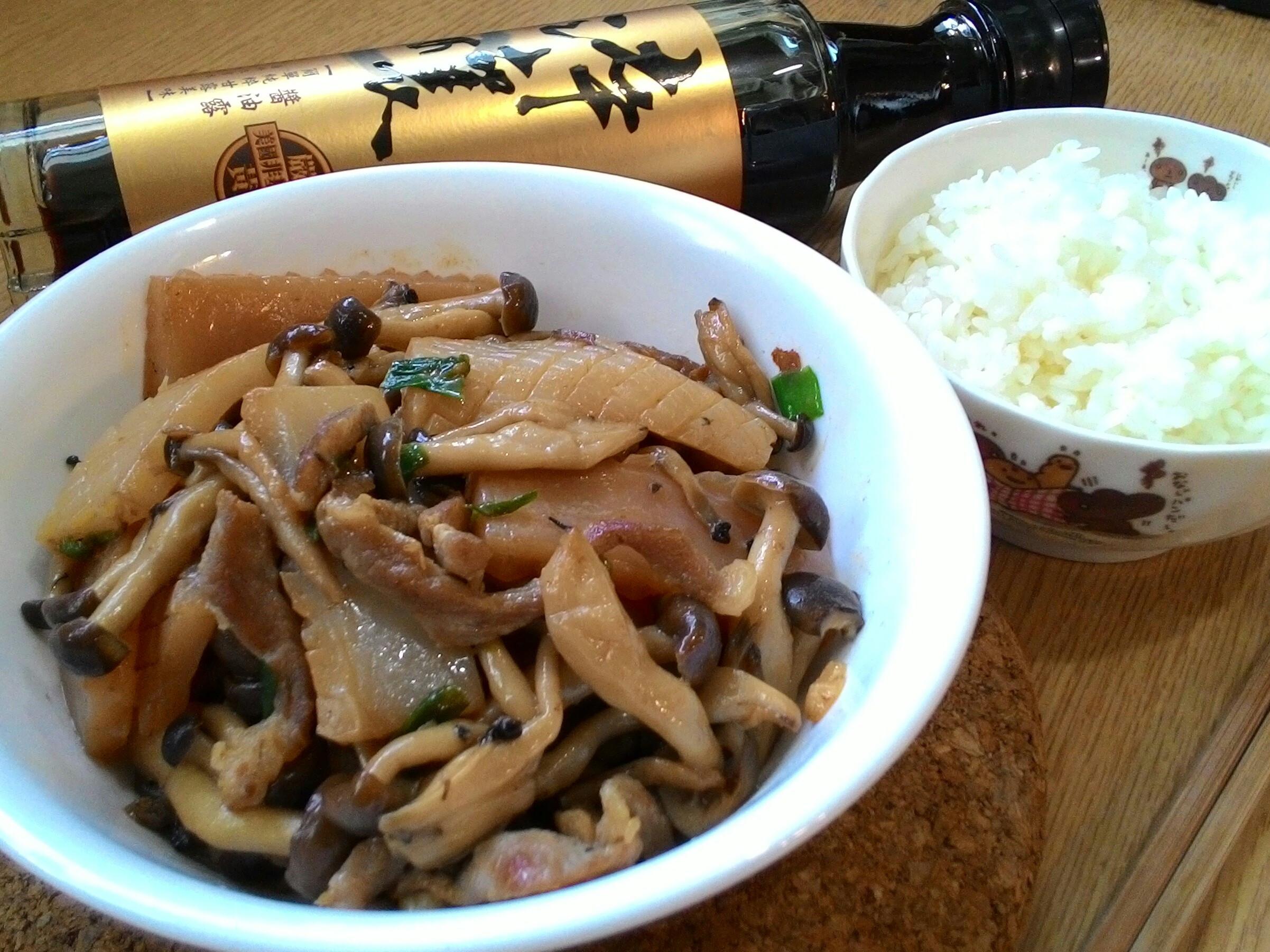 肉絲蒟蒻鴻禧菇【淬釀手路菜】
