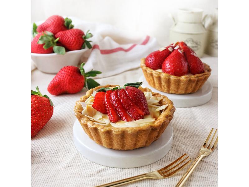草莓塔(基本塔皮+卡士達醬)