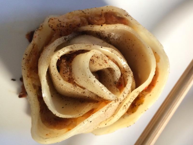 🌹泡菜豬肉玫瑰煎餃🌹💕