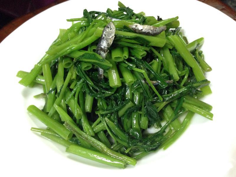 小魚乾炒空心菜