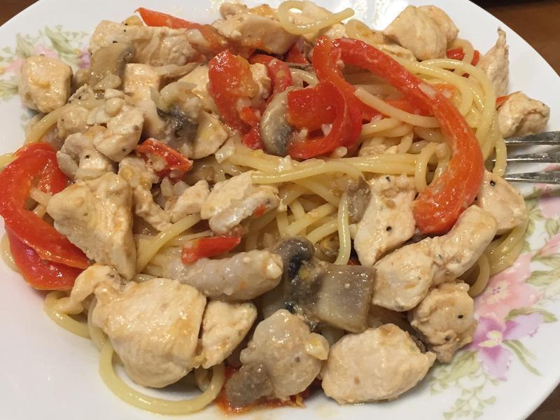 清炒雞肉義大利麵